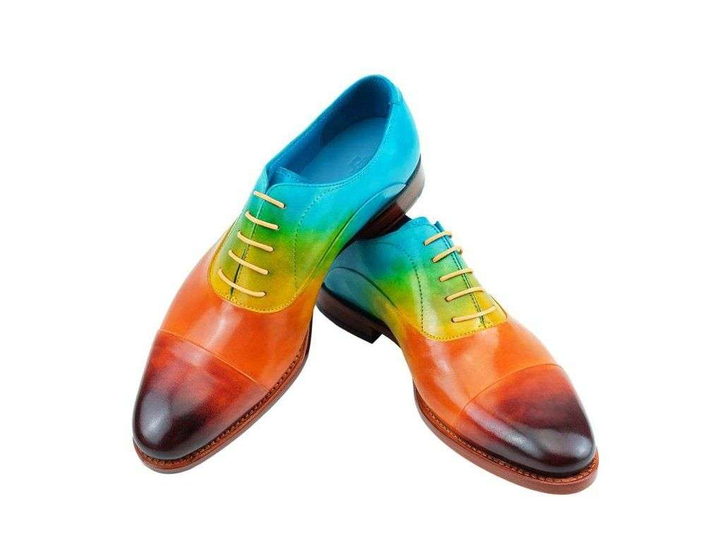 Rainbow men formal shoes
