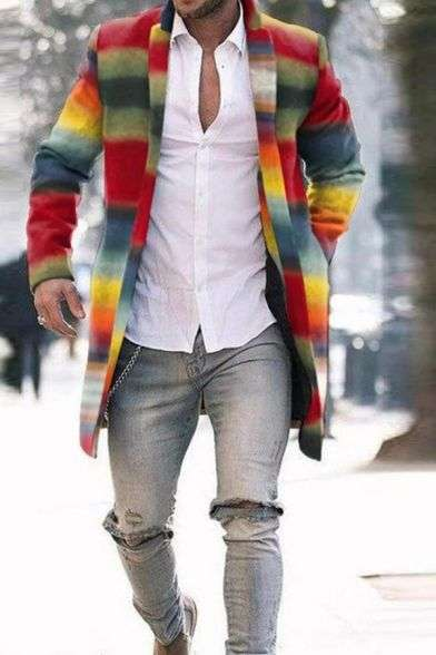 Rainbow man fashion