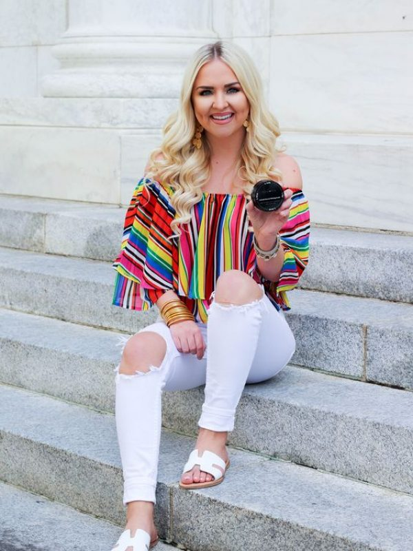 Rainbow woman casual top